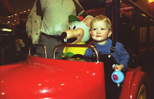 Eion and Chucky driving